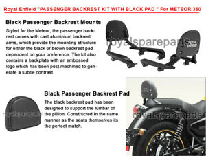 Genuine Royal Enfield Meteor 350 Passenger Backrest Kit With Black Pad