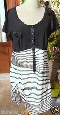 Robe Tunique la mode est a vous LMV  noir 46 48  neuf modele PODIUM boutique