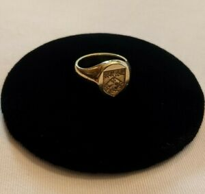 Tiffany & Co. 18kt Yellow Gold Signet Ring With Crest Intaglio