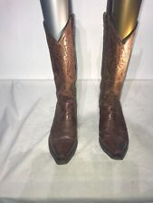 dan post cowboy boots Ladies Brown Leather Boots Uk 5.5m Ref Ba06