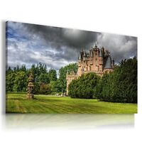ENGLAND Glamis Castle View Canvas Wall Art Picture Large SIZES  L93 X MATAGA .
