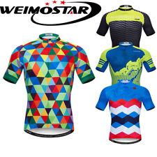 Men Pro Team Cycling Jersey Bicycle Sport Clothing Bike Shirt Short Sleeve Tops