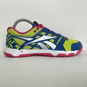 Reebok 3D Fuse Frame Womens Size 8.5 Multicolor Lace Up Mesh Running Shoes(E1)