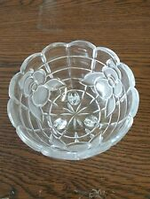 Crystal bowl with 3 legs and flower accent candy dish gravy dish