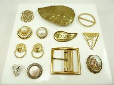 Mixed Lot of Vintage Scarf Clips, Shoe Clips or Buckles