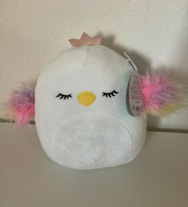 "New with Tag Squishmallow 8"" Swan SERENA 2020 MWT Mint CLAIRE'S Exclusive Plush"