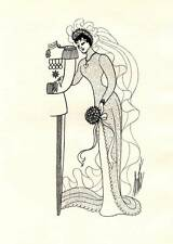 ORIGINALE VINTAGE Erte ART DECO LIBRO Piastra di stampa 1969