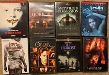 The Amityville Horror 1, 2, I spit on your Grave, Silence of the Lambs 7 Dvds!