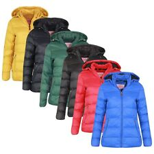 New Womens Ladies Quilted Padded Bubble Hooded Warm Puffer Jacket *MANY COLOURS*