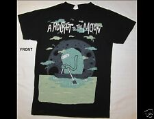 A ROCKET TO THE MOON Junior Size Small Black T-Shirt