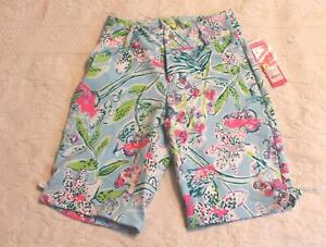 """Lilly Pulitzer Women's Luxletic 10"""" Bettina Golf Short AB3 Sway This Way Size 0"""