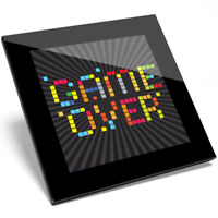 1 x Cool Game Over Retro Art Design Glass Coaster - Kitchen Student Gift #14129