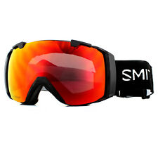Smith Ski Goggles I/O M006389PC996K Black Chromapop Sun Red Mirror Rose Flash