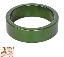 """ORIGIN8 ALLOY 10mm x 1-1/8""""  ANODIZED GREEN BICYCLE HEADSET SPACERS--BAG OF 10"""