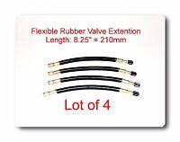 "4 Kits Flexible EPDM Rubber Tire Valve Stem Extension 8.25"" / 210mm  Φ12/10mm"