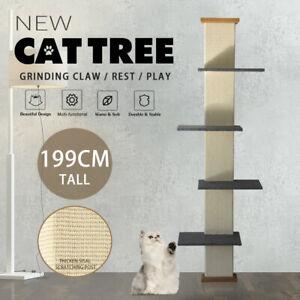 2M Cat Tree Cat Furniture Scratching Post Scratcher climbing Tower Sisal Stand