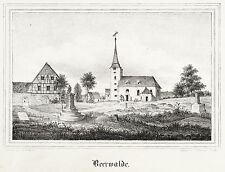 Beerwalde (Erlau) - Villaggio Chiesa-CHIESE-Galleria-LITOGRAFICO 1843