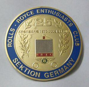ROLLS ROYCE ENTHUSIASTS CLUB SEKTION GERMANY CAR GRILL BADGE EMBLEM MG JAGUAR TR
