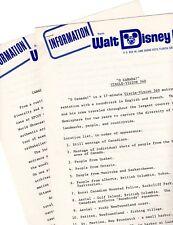 CANADA: EPCOT Walt Disney World 1982 Information Packet.