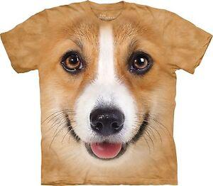 Corgi Face Dogs T Shirt Child Unisex The Mountain  Boys Girls ~ Size Small