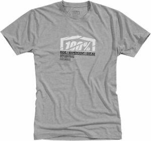 100% MX Motocross ASSENT Tech T-Shirt (Heather Gray) XL (X-Large)