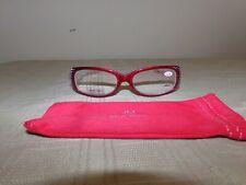 Joy Mangano Glasses, +2.50, Red, New