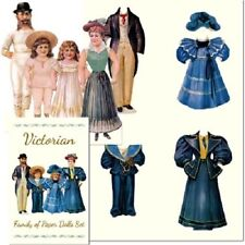 Shackman Victorian Family Paper Dolls And Clothes #Shk-14