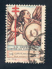 French 1936 TB stamp canceled fine no gum