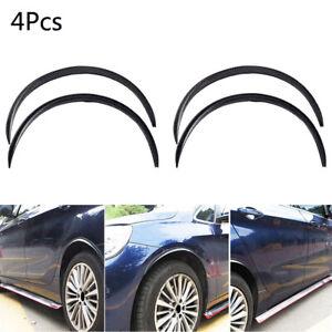 4x Carbon Fiber Wheel Eyebrow Arch Trim Lips Strip Fender Car Accessories