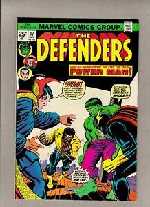 THE DEFENDERS #17_NOV 1974_VERY FINE+_HULK_DR STRANGE_SUB-MARINER_POWER MAN!