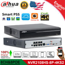 Dahua Upgrade 8CH 8 PoE NVR2108HS-8P-4KS2 P2P Network Video Recorder CCTV System