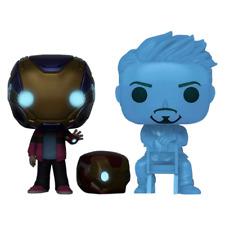 Avengers 4 Endgame Morgan & Hologram Tony Glow With Helmet Pop Vinyl Figure Set