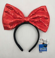 Disney Park Red Big Bow Limited Edition Mickey Minnie Mouse Ears Headband