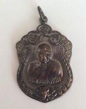 Statuette figurine amulette métal BOUDDHA BONZE PLAQUE MEDAILLE Thaïlande b179