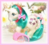 ❤️My Little Pony MLP G1 Vtg 1984 Gusty Unicorn Glitter Maple Leaves MOON COMB❤️