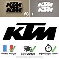 2 Stickers KTM Noir Réfléchissant Adhésif 10 cm par 3,1 cm Adhésif Tuning Moto