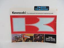 NOS Genuine Kawasaki Dealer Sales Brochure G4 G4TR Trail Boss