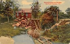 Schoolhouse & Bridge Guilford Center Vermont 1910