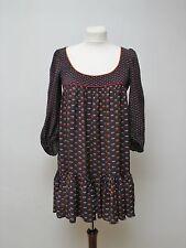 French Connection Kleid Tunika Schöne Farben und Muster UK10 Gr.36/38