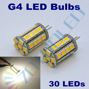 4x 5W 30 LEDs Warm White G4 led corn bulbs replace 50W halogen bulb for garden
