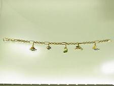 Schönes Bettelarmband 585 GG mit 5 maritimen Emaille Anhängern sehr dekorativ
