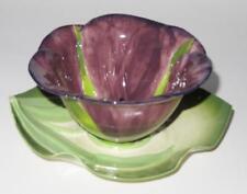 Mustardseed & Moonshine Floral Cup or Bowl & Saucer Set PURPLE