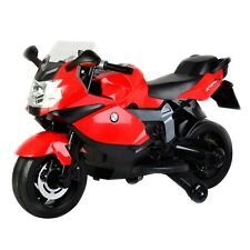Licensed BMW 12 Volt Battery Powered Motorcycle Ride On, Red; Kids; 5 mph
