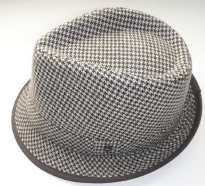 STETSONMEDIUM Fedora Hat houndstooth BROWN