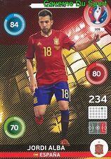 105 JORDI ALBA ESPANA SPAIN CARD ADRENALYN EURO 2016 PANINI