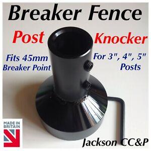 """Breaker Fence Post Knocker  for 3"""", 4 """" , 5 """" Posts - JCB, Digger, CAT, KUBOTA"""