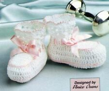 Crochet Baby Bootees PATTERN(Fine Thread) (NOT FINISHED ITEM)