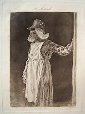 FELICIEN ROPS Original 1874-75 Drypoint and Aquatint