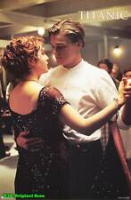 MOVIE POSTER~Titanic 1997 Dancing Original Film Sheet DiCaprio Winslet Zane~1