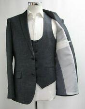 Men's Unbranded 3pc Suit in Dark Grey (40R)..Sample 5587
